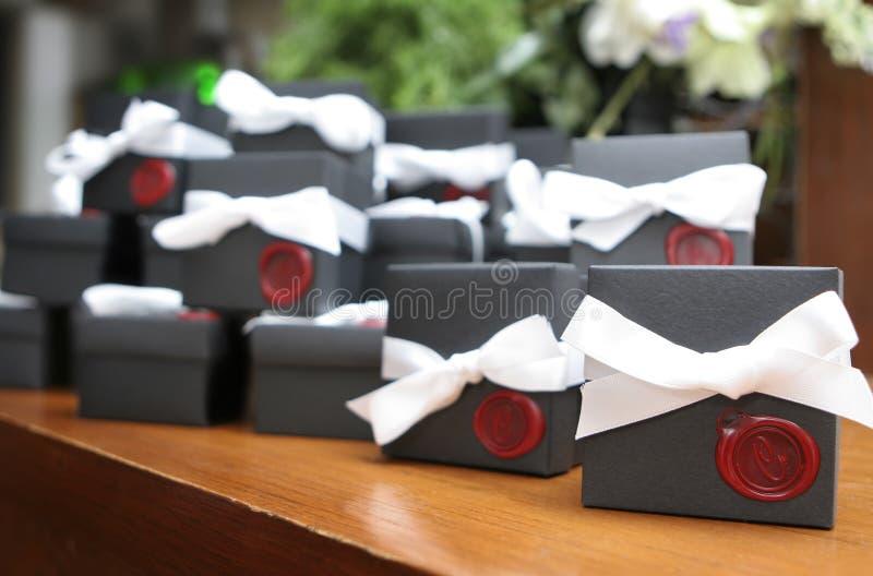 Favores de la boda fotos de archivo libres de regalías