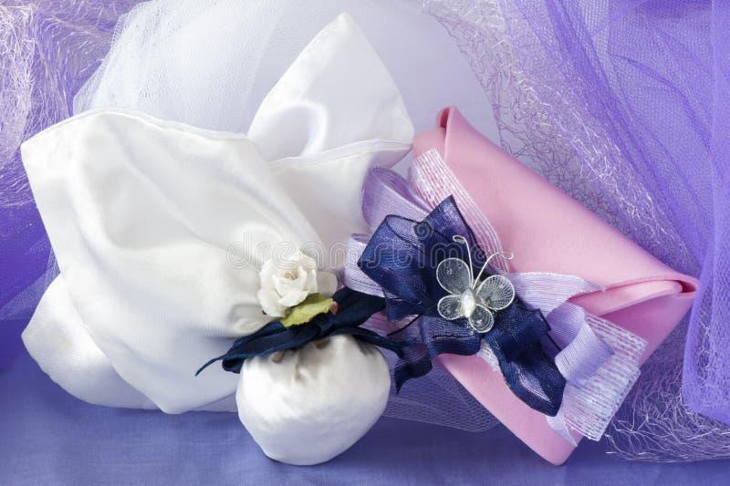 Favores de la boda imágenes de archivo libres de regalías