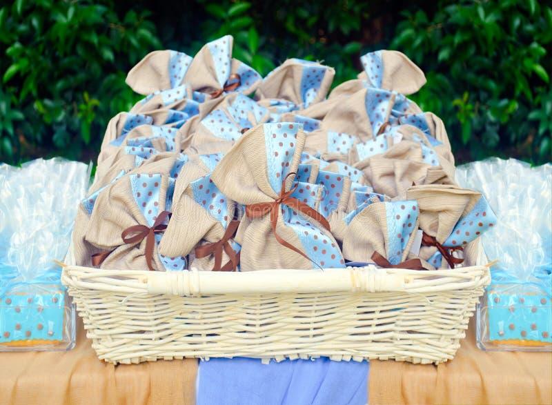 Favores do batismo imagens de stock royalty free