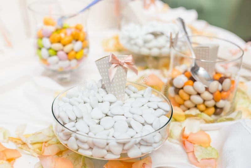 Favores do casamento para o convidado do casamento imagens de stock