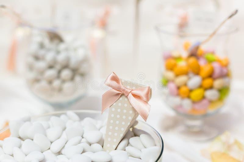 Favores do casamento para o convidado do casamento foto de stock royalty free