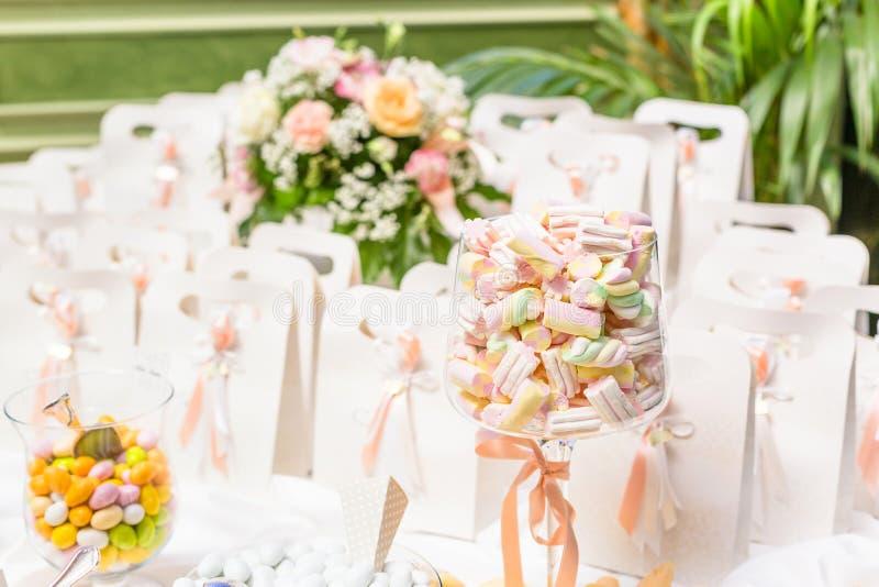 Favores do casamento para o convidado do casamento fotografia de stock
