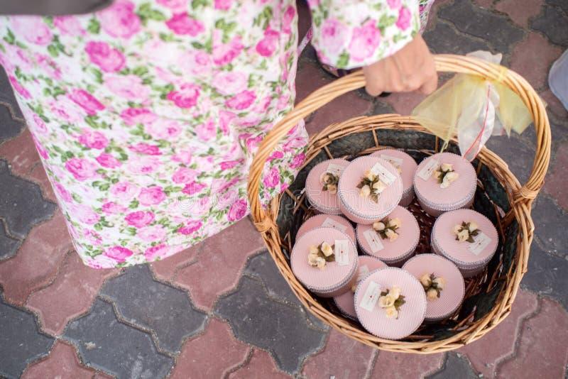 Favores malaios do casamento fotos de stock royalty free
