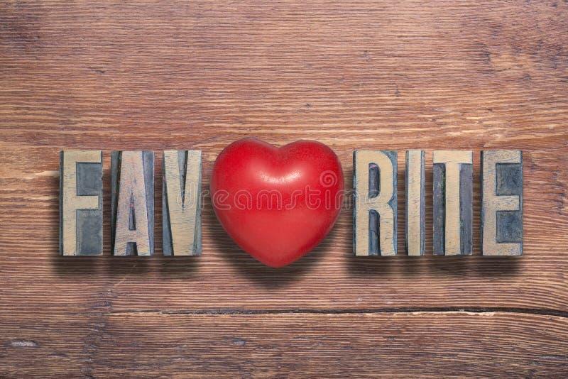 Favoriet houten hart stock foto