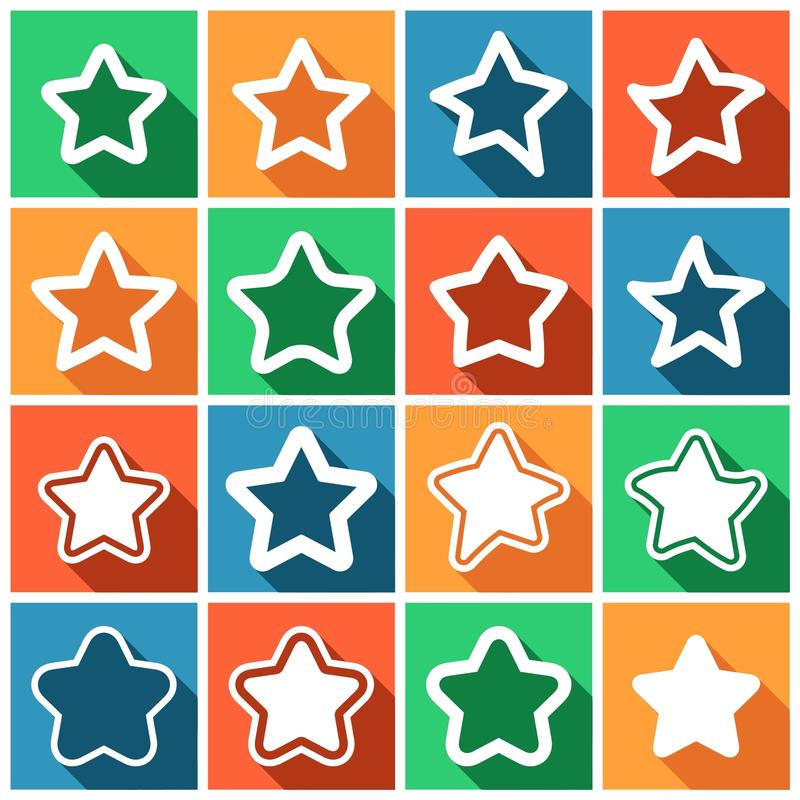 Favoriete pictogrammen stock illustratie