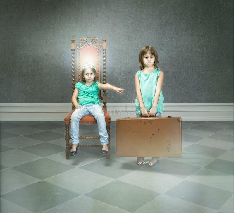 Favoriete zoon en dochtermetafoor royalty-vrije stock fotografie