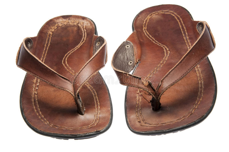 favorit hans lädersandals arkivfoto