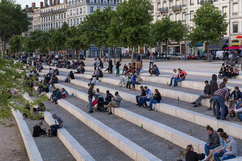 Favorit- möteställe i Lyon royaltyfri foto