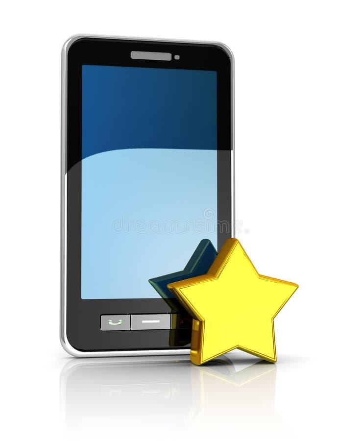 favorit- mobil telefon royaltyfri illustrationer
