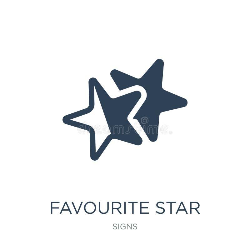 favorit- stjärnasymbol i moderiktig designstil favorit- stjärnasymbol som isoleras på vit bakgrund favorit- enkel stjärnavektorsy stock illustrationer