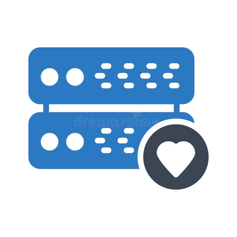 Favorit- symbol för vektor för serverskårafärg fotografering för bildbyråer