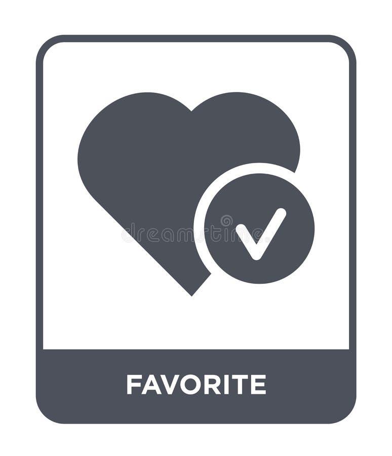 favorit- symbol i moderiktig designstil Favorit- symbol som isoleras på vit bakgrund enkel och modern lägenhet för favorit- vekto vektor illustrationer