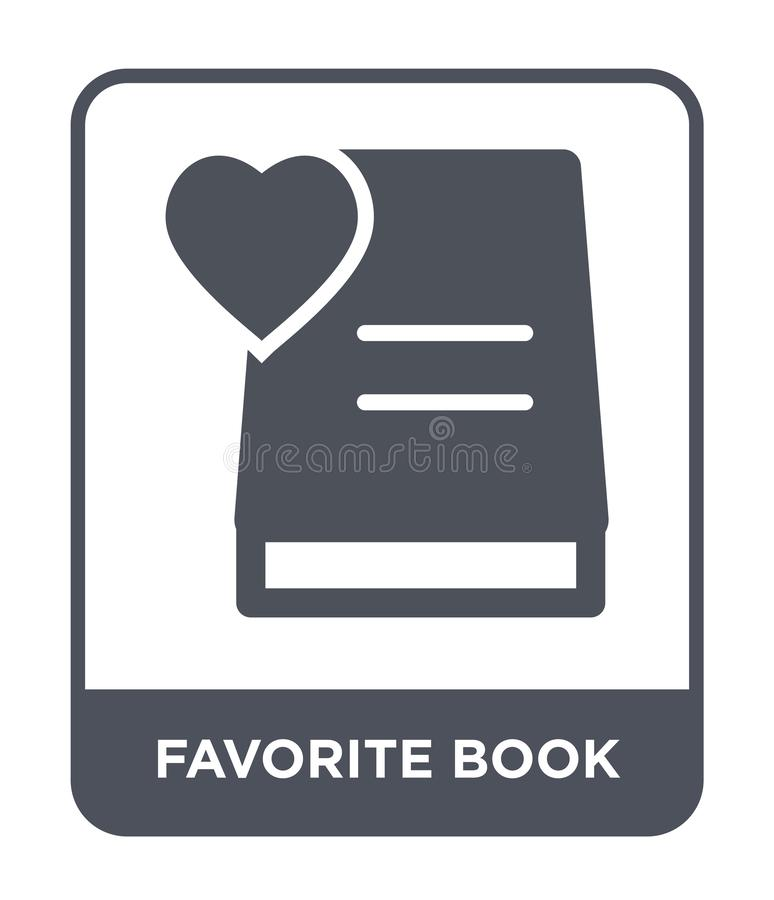 favorite book icon in trendy design style. favorite book icon isolated on white background. favorite book vector icon simple and vector illustration
