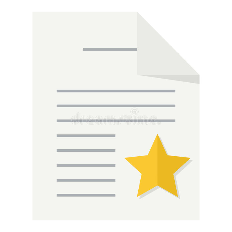 Favorite Document Flat Icon On White Stock Vector Illustration Of