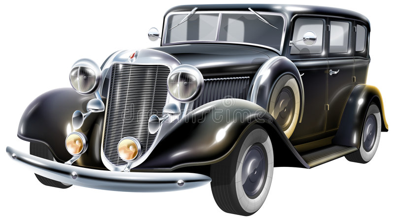 The favorite gangsters car vector illustration