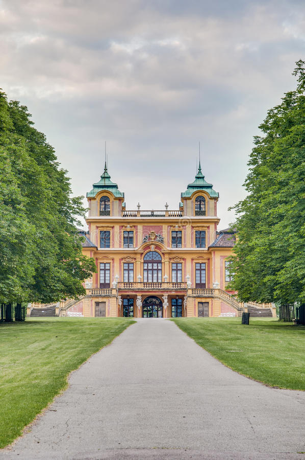 The Favorite Schloss in Ludwigsburg, Germany. The hunting lodge and summer residence Favorite Schloss in Ludwigsburg, Germany royalty free stock photo