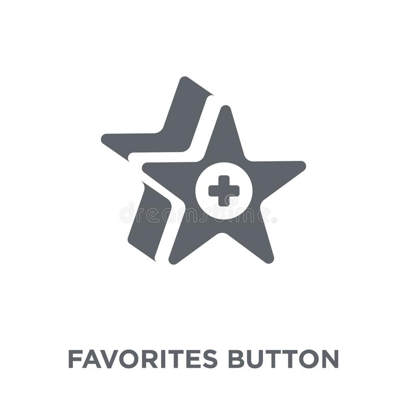 Favorites Button icon from Webnavigation collection. royalty free illustration