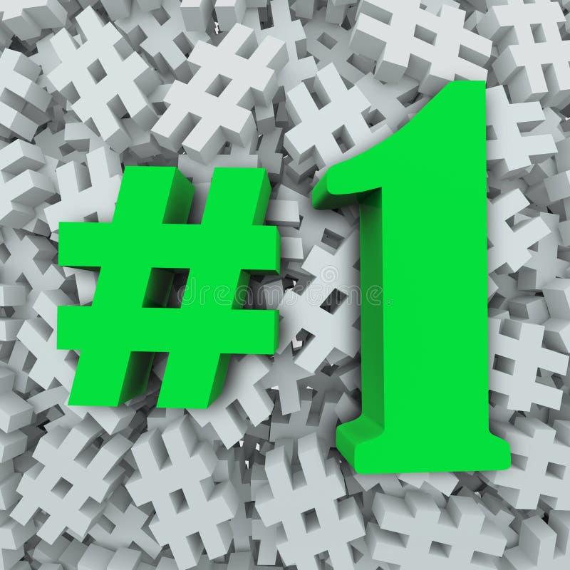 #1 favorito o mais quente o mais popular superior do número um ilustração royalty free