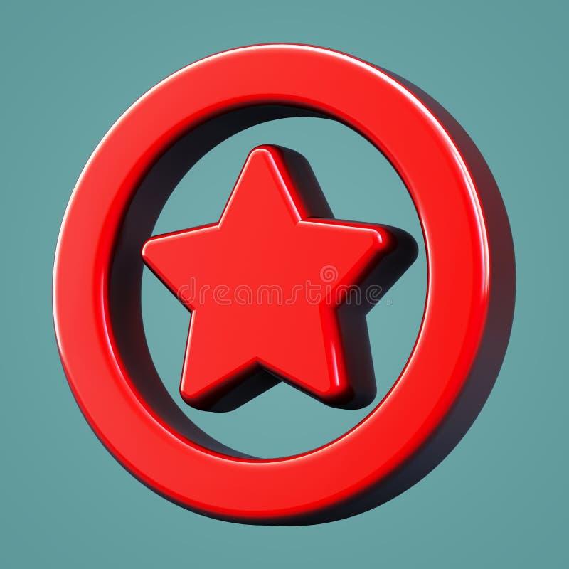 Favoritos volumétricos do ícone Símbolo da estrela ilustração stock