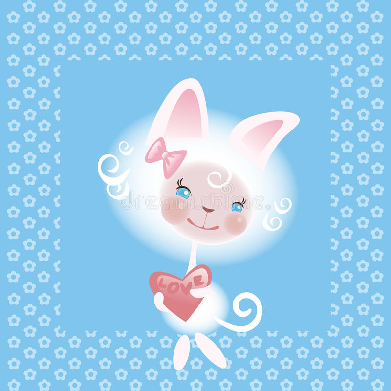 Download Favourite Cat The Girl 2 Royalty Free Stock Image - Image: 18496926