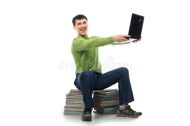 Favourite laptop stock image