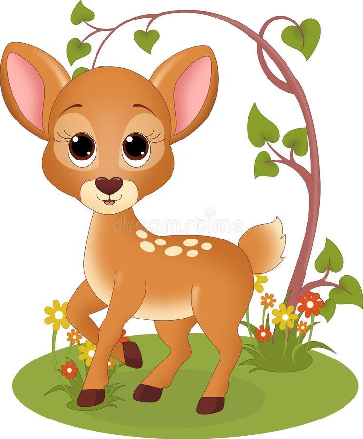 Fawn in het bos stock illustratie
