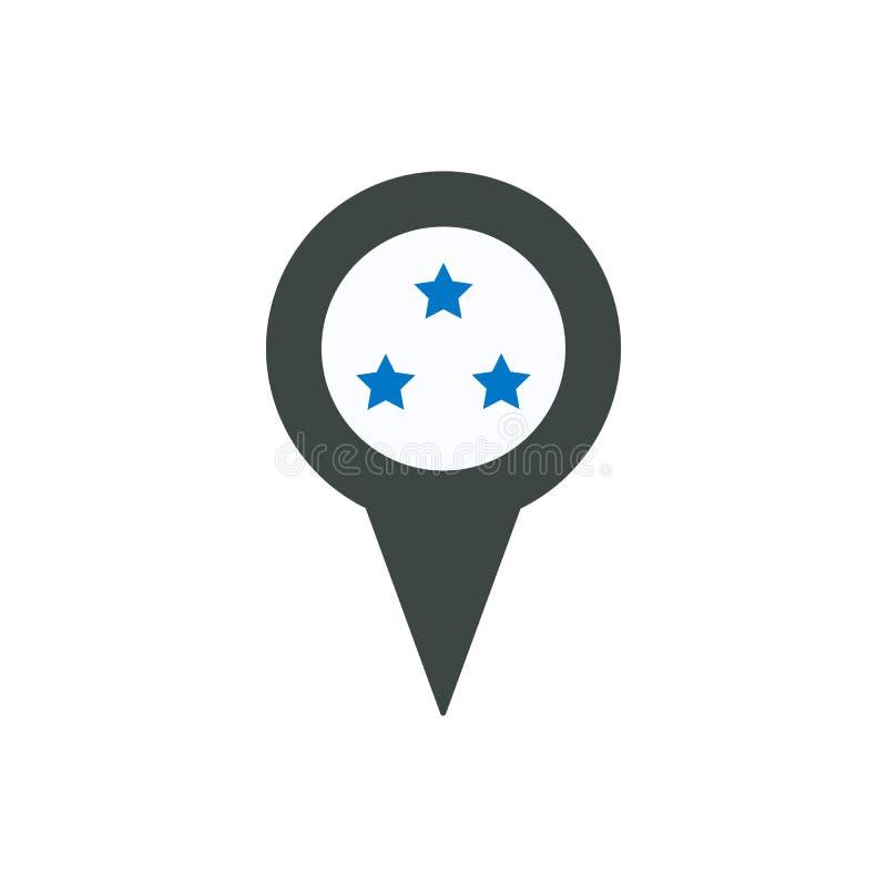 Faworyt jak lokaci szpilki miejsca kategoria gra główna rolę ikonę ilustracja wektor