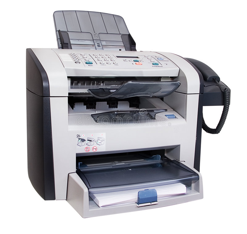 fax που απομονώνεται στοκ εικόνες με δικαίωμα ελεύθερης χρήσης