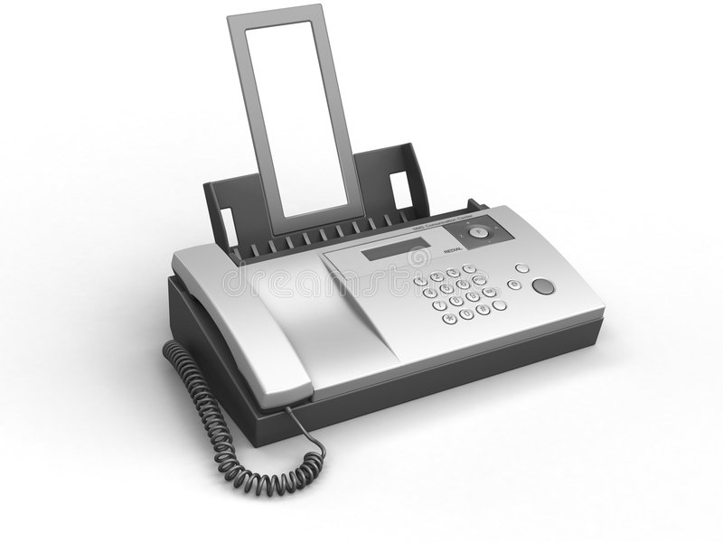 Fax illustration stock