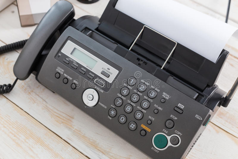 fax imagem de stock