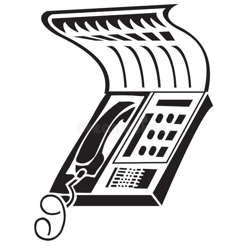 Fax illustrazione di stock