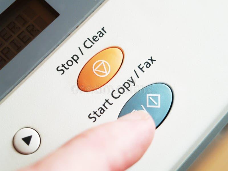 Fax de copieur photographie stock
