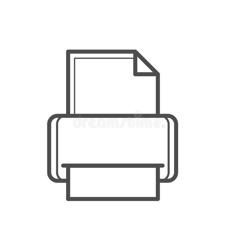 Fax icon. Outline fax icon , printer illustration for web design etc stock illustration