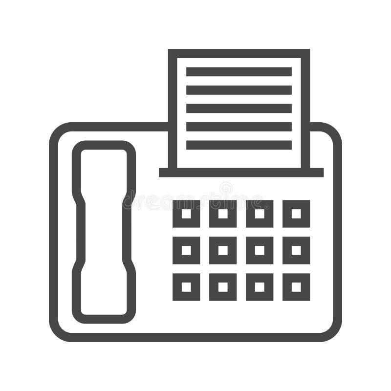 Fax Line Icon stock illustration