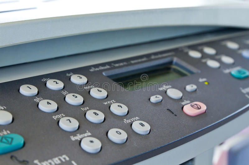 Fax machine stock photography
