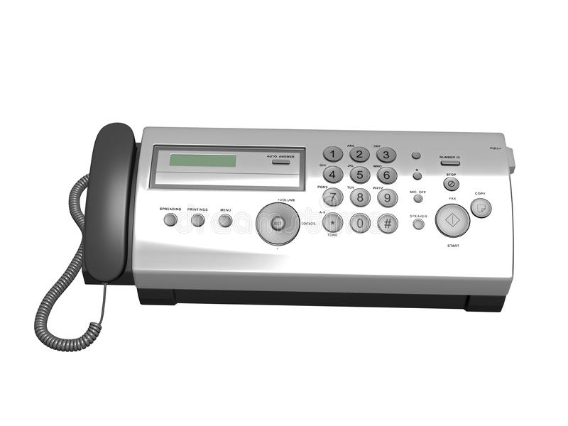 Download Fax Machine stock illustration. Image of office, object - 21899194
