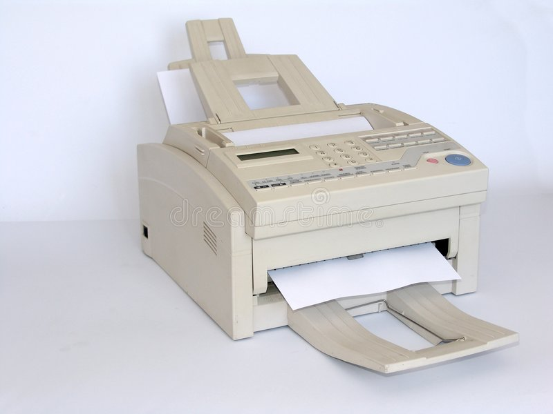 Download Fax machine stock photo. Image of device, picture, print - 69438