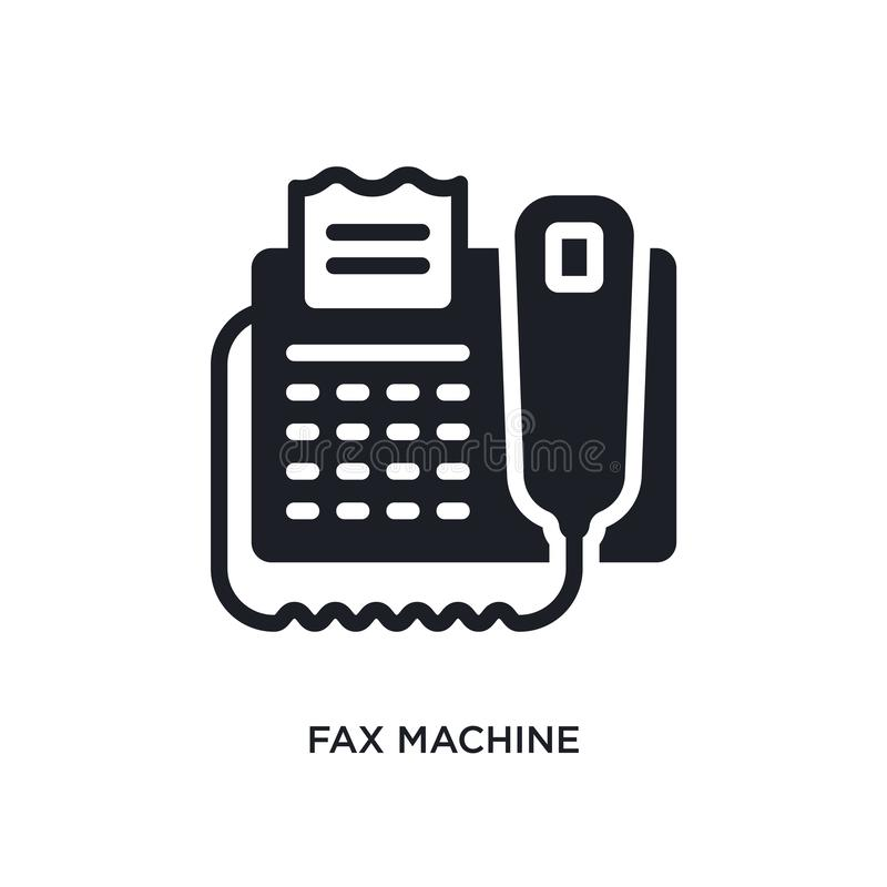 Fax machine isolated icon. simple element illustration from electronic devices concept icons. fax machine editable logo sign. Symbol design on white background royalty free illustration