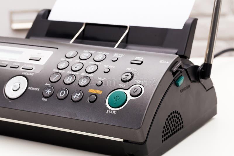 Fax machine. Office tech equipment, fax machine stock photos