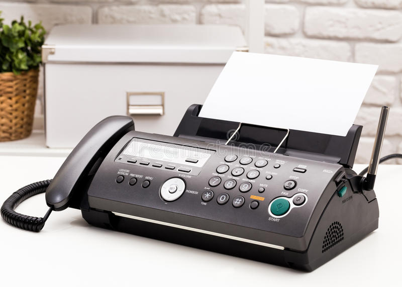 Fax machine. Office tech equipment, fax machine royalty free stock photos