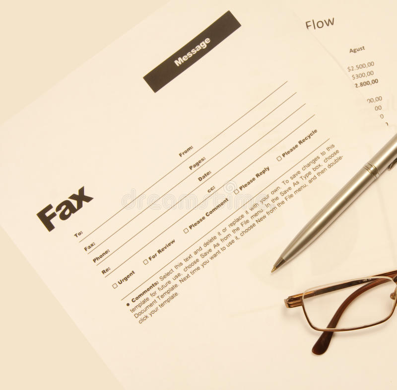 Download Fax message stock photo. Image of transmitting, communication - 15454092