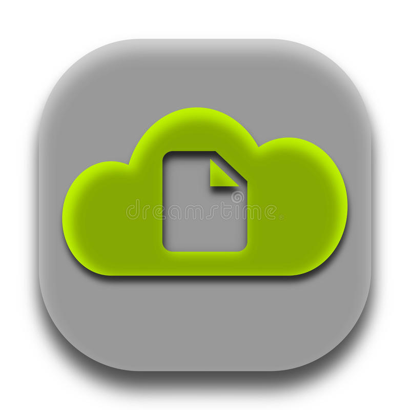 Fax Paper Coud App Icon and App Logo stock image