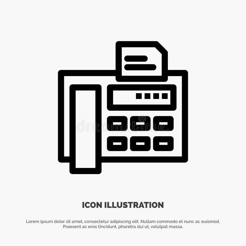 Fax, téléphone, machine à écrire, Fax Machine Line Icon Vector illustration de vecteur