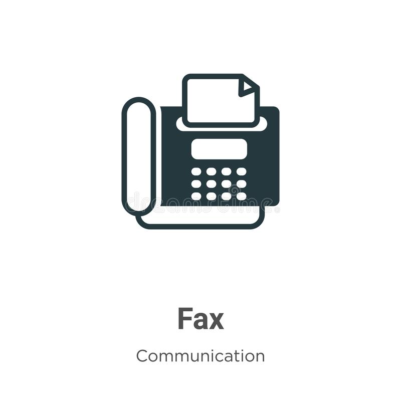 fax vector icon on white background flat vector fax icon symbol sign from modern communication collection for mobile concept and stock vector illustration of website print 164500047 dreamstime com