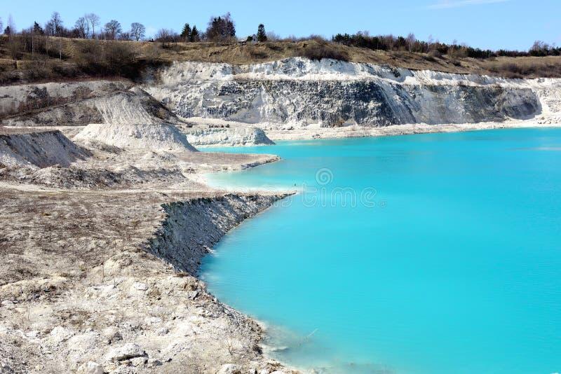 Faxe Limestone Quarry stock photography