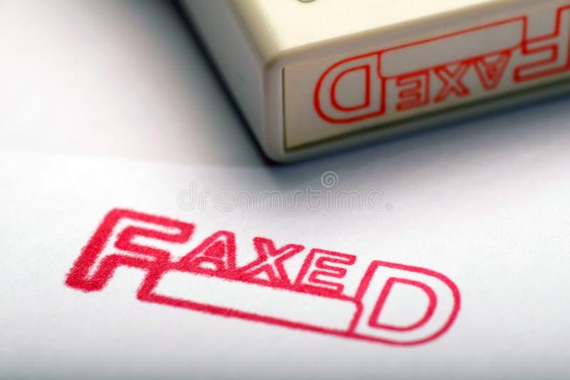 faxed стоковая фотография rf