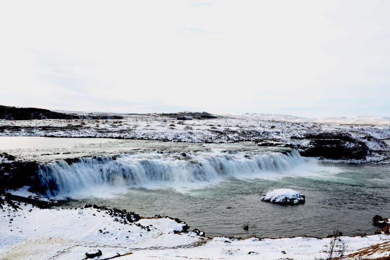 Faxifoss siklawa, Złoty okrąg, Iceland obraz stock