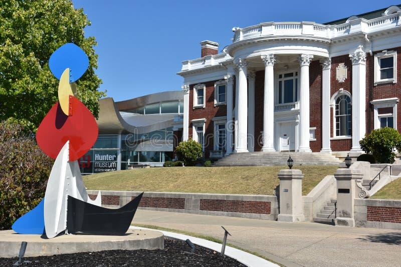 Faxon-Thomas Mansion, den original- Hunter Museum av amerikansk konst, i Chattanooga fotografering för bildbyråer