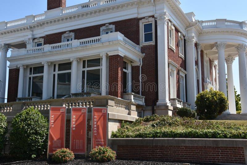 Faxon-Thomas Mansion, den original- Hunter Museum av amerikansk konst, i Chattanooga arkivbild