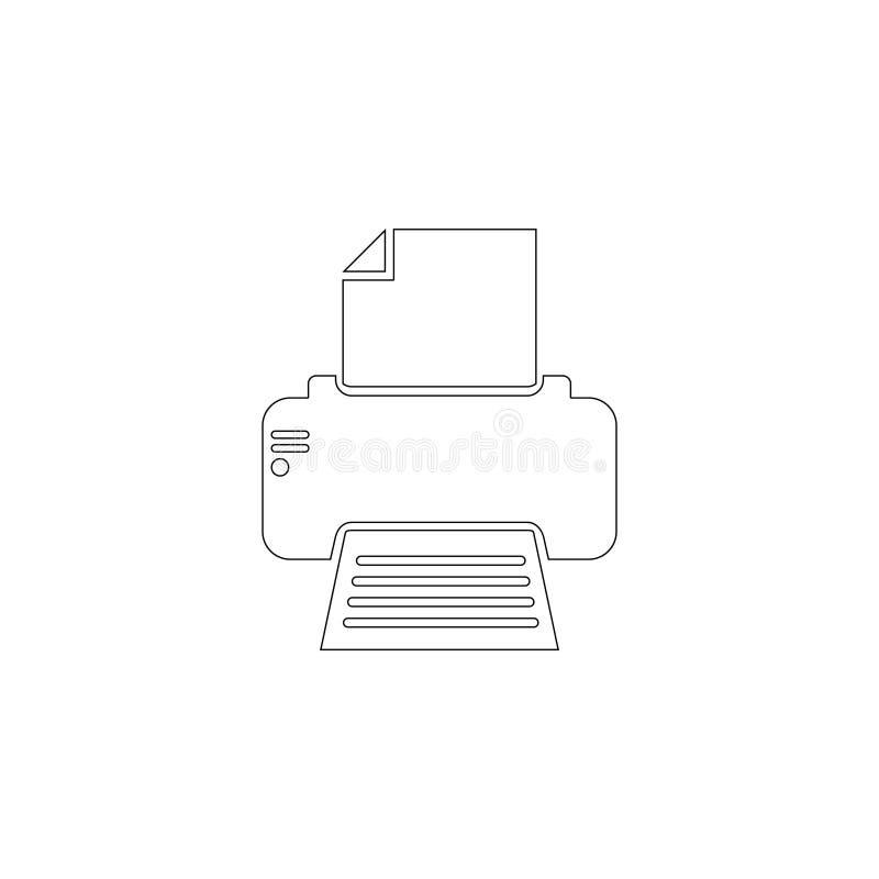 Faxskrivare Plan vektorsymbol stock illustrationer